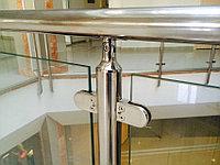Стальные перила с каленным стеклом