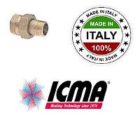 Прямой фитинг с накидной гайкой ICMA 1/2 818