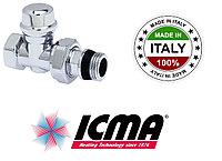 Клапан для полотенцесушителей прямой ICMA 1/2 937 хром