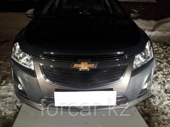 Защита радиатора Chevrolet Cruze 2013- black низ, фото 2