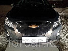 Защита радиатора Chevrolet Cruze 2013- black низ