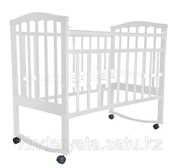 Детская кроватка-качалка Золушка 1 на колесах