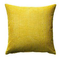 Чехол на подушку 50х50 ГУЛЛЬКЛОКА желтый ИКЕА, IKEA, фото 1