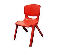Стульчик детский пластиковый высота сиденья 24 см, красный