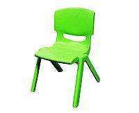 Стул детский пластиковый, зеленый, 32*53 см