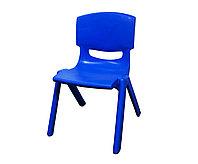 Стул детский пластиковый, синий, 32*53 см
