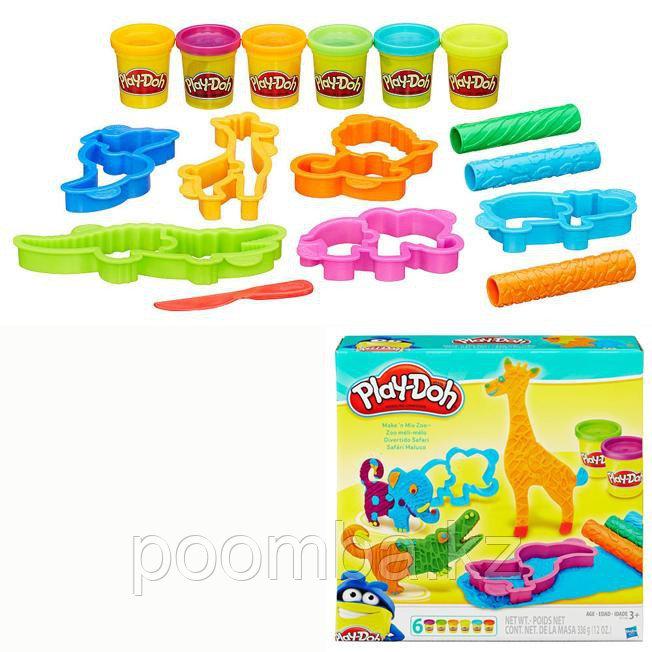 Набор ДТ для лепки Play-Doh Веселое Сафари