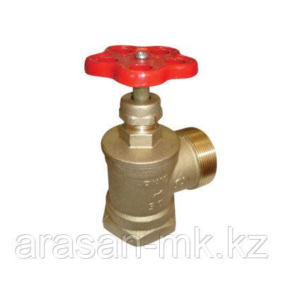 Вентиль (клапан) латунный 15Б3р пожарный угловой
