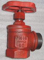 Вентиль пожарный чугунный 15кч18п угловой
