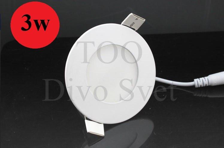 Светодиодный потолочный встраиваемый круглый спот 3 W. Холодный и теплый белый цвет