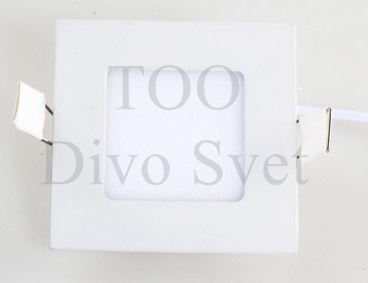 Светодиодный потолочный спот квадратный  3 w ( оригинал)  Холодное и теплое свечение.