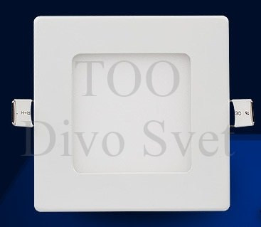 Квадратные светодиодные потолочные споты  4 w ( оригинал)  Холодное и теплое свечение.