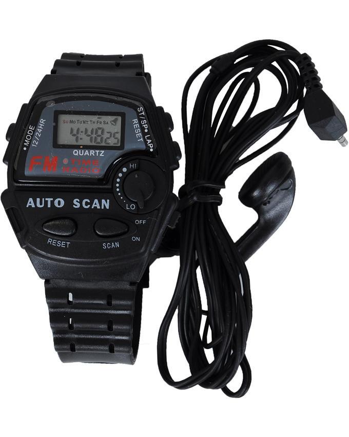 Часы электронные наручные  FM SCAN с радио FM