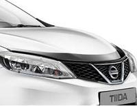 Мухобойка\дефлектор капота на Nissan Tiida/Ниссан Тиида 2014-
