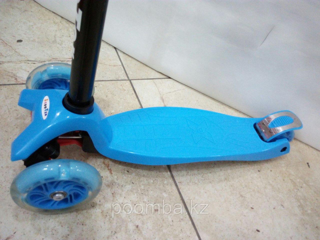 Трехколесный самокат от 4х лет (синий)