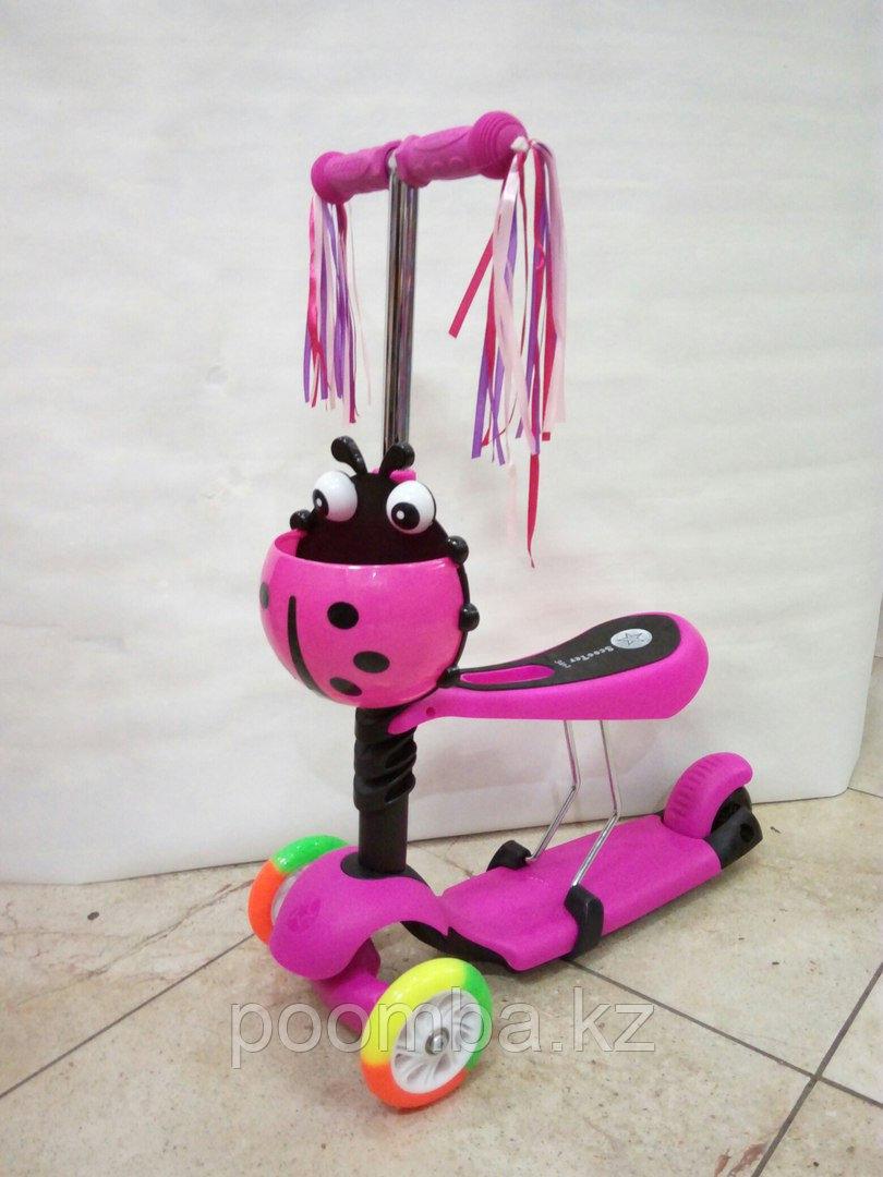Детский трехколесный самокат - каталка Y Bike Glider Seat с сиденьем.