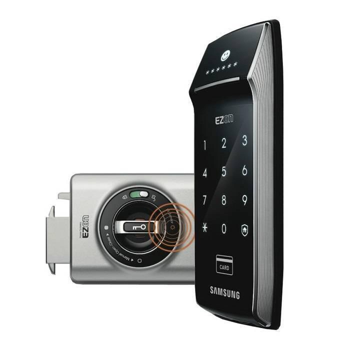 Электронный замок с дистанционным пультом Samsung SHS-2320W