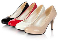 Лакированные классические туфли лодочки