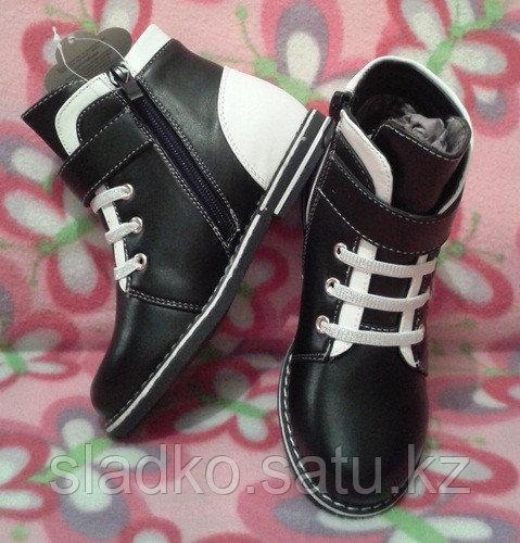 Ботинки для девочки черно-белые шалунишки - фото 2