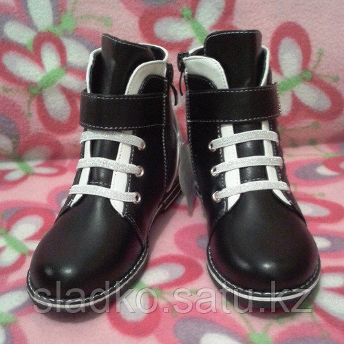 Ботинки для девочки черно-белые шалунишки - фото 3
