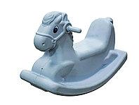 Детские качели-качалка в виде лошадки (белые)