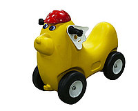 "Детская машинка-каталка (толокар), ""Собачка желтая"""
