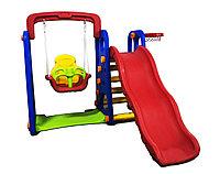 Детский игровой комплекс 2 в 1: горка + качели, 160*120*150 см