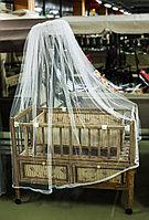 Деревянная детская кровать-манеж, с ящиками для вещей