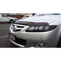 Защита фар Mazda 6 2002-2007 седан с чёрным рисунком