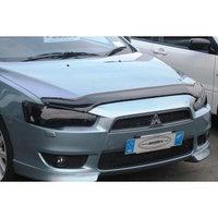 Защита фар Mitsubishi Lancer X 2007+ тёмная