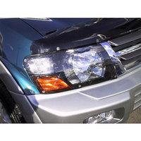 Защита фар Mitsubishi Pajero 2000-2006 карбон