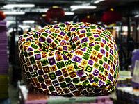 Пуфик (бинбэг), разноцветный