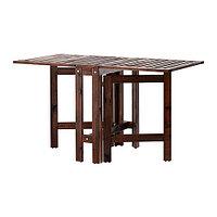 Стол складной садовый ЭПЛАРО коричневая морилка ИКЕА, IKEA , фото 1