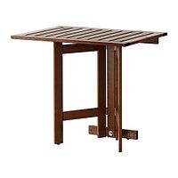 Стол складной /стенной ЭПЛАРО коричневая морилка ИКЕА, IKEA, фото 1