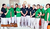 Футболки поло изготовленные для стоматологической клиники HAPPY DENT в городе Усть-Каменогорск.