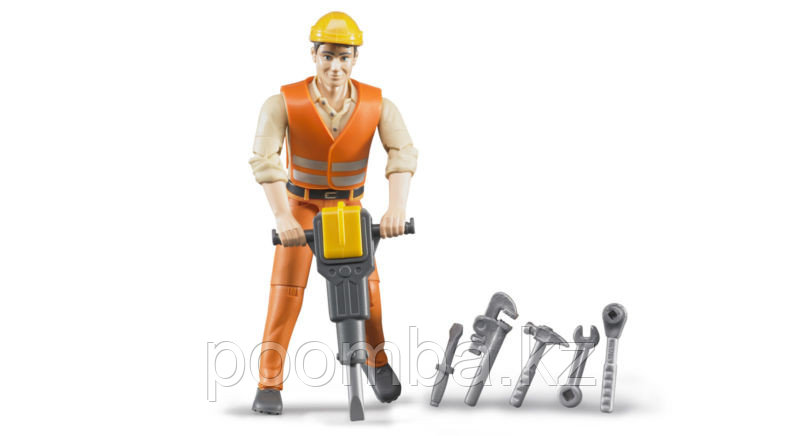 Фигурка строитель с инструментами Bruder