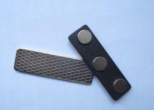 Магнитное крепление для беджей, 45х13 мм (3 магнита)