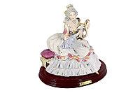 Фарфоровая статуэтка Девушка с лирой. Ручная работа, Италия