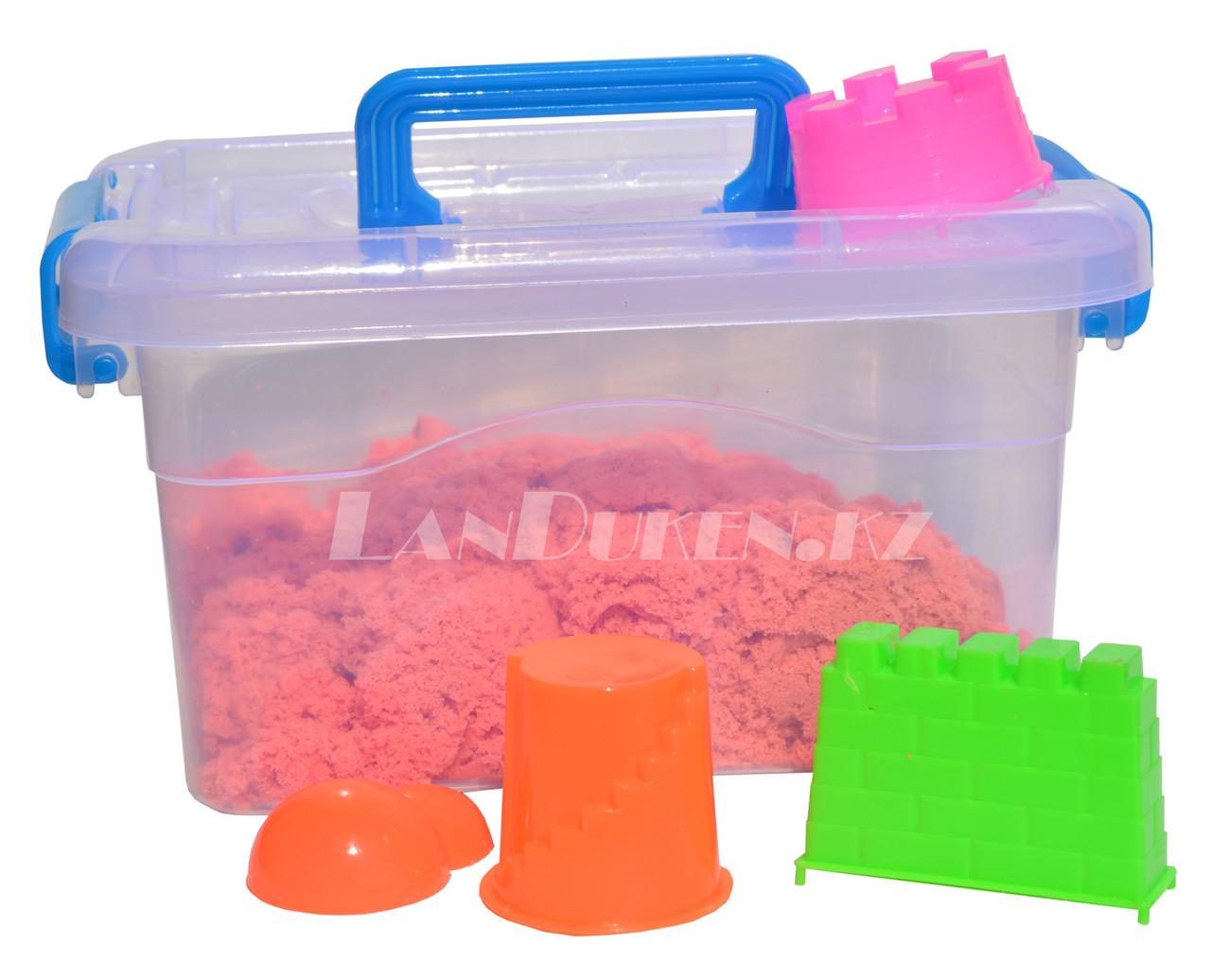 Кинетический песок для детей маленький (1 класс), живой песок (оранжевый)