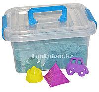 Кинетический песок для детей маленький (1 класс), живой песок (голубой), фото 1