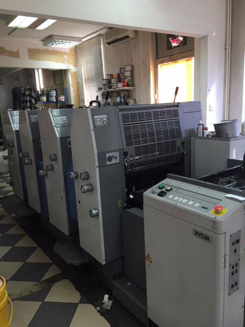 Ryobi 524 HE б/у 2004г - четырехкрасочная печатная машина