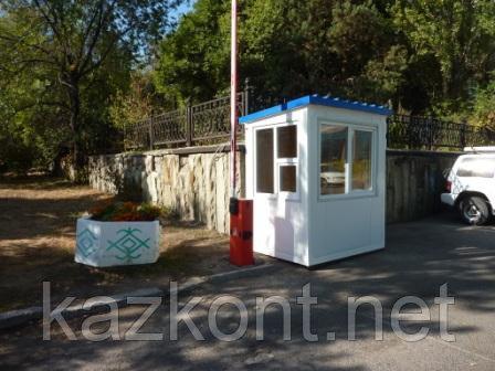 Стационарная будка охраны, пост охраны, охранная будка, КПП 2,0*1,5*2,5 м
