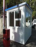 Стационарная будка охраны, пост охраны, охранная будка, КПП 2,0*1,5*2,5 м, фото 4