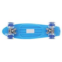 "Пенни борд 22 ""Penny board"" со светящимися колёсами(синий)"