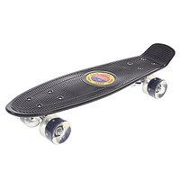 """Пенни борд 22 """"Penny board"""" со светящимися колёсами(черный)"""