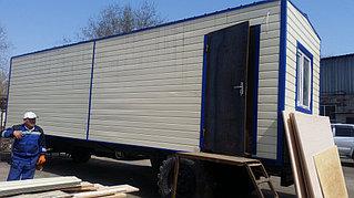 Утепленный вагон на шасси 9 метров для полевого стана 3