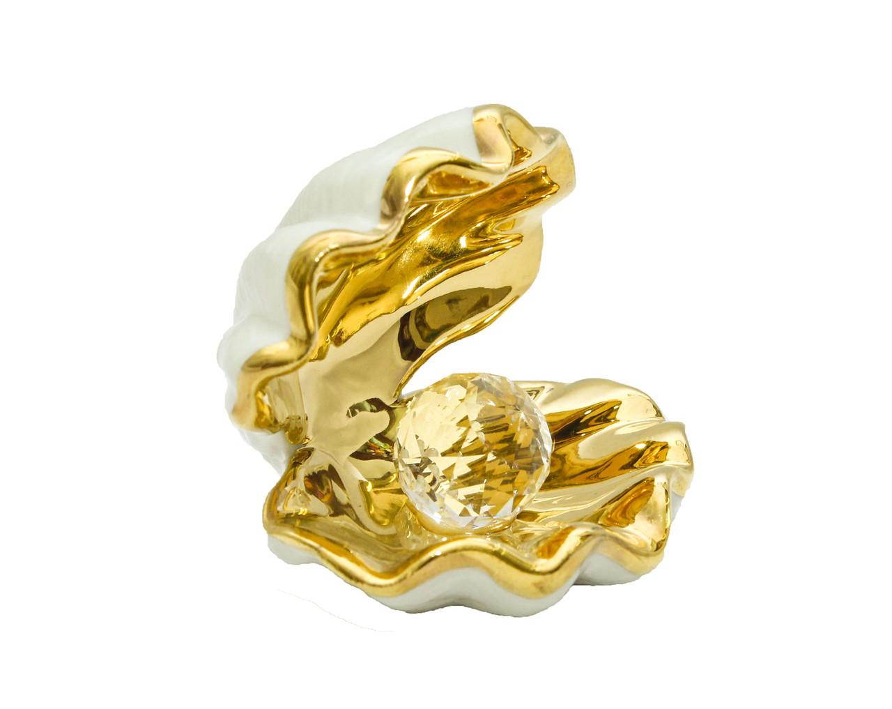 Сувенир Ракушка с жемчужиной. Фарфор, Италия