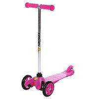 Самокат детский трехколесный Kiddyscoo Smiley(регулируемый)(розовый)