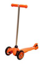 Самокат детский трехколесный Kiddyscoo Smiley(регулируемый)(оранжевый)