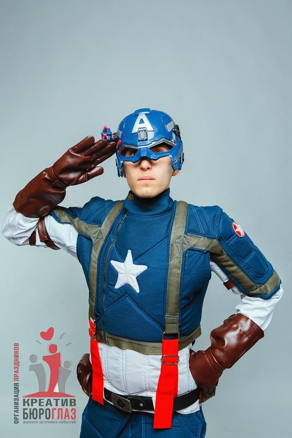 Аниматоры для детей Капитан Америка - фото 1